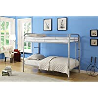 ACME Furniture 02188SI Thomas Bunk Bed, Twin, Silver