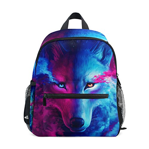 nbsp;for nbsp;Backpack nbsp;Book nbsp;Girls nbsp;School Wolf Moon nbsp;Bag Kids nbsp;Toddler ZZKKO Boys Animal wUqgCxagf