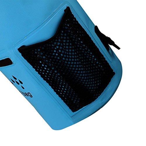 Haodasi Reißverschluss Waterproof Dry Bag Strap Outdoor Aktivitäten Wassersports Wasserdichte Taschen Trockenbeutel wasserfeste Hülle Wandern,Schwimmen,Bootfahren,Kanusport Grün 10L
