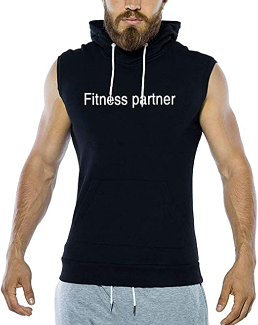 Fashion Men/'s Luck Letter Tank Sleeveless O Neck Vest Summer Cool Tops Sport Gym