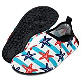 Cheap Yidomto Water Shoes, Quick-Dry Barefoot Socks for Mens Womens Kids on Beach Pool Swim and Yoga(Stars/L/42/43)