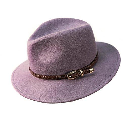Verashome Felt Panama Hat-100% Wool Fedora Vintage Fit for Women and Men's Trilby (Grey ()