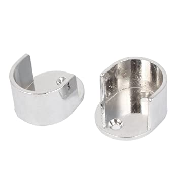Uxcell A16071200ux0220 Closet Rod Flange Wardrobe Closet 26Mm Dia Metal  Round Tube Rod Flange Holder Bracket