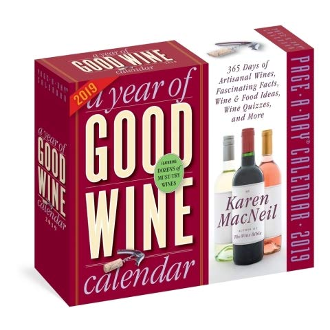 A Year of Good Wine 365 PAGE-A-DAY DAILY DESK/BOX CALENDAR 2019