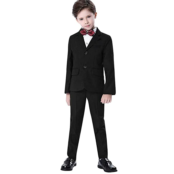450bbbb8d Outtop(TM) Boys Colorful Formal Suits 5 Piece Slim Fit Dresswear  Coat+Pants+Bow Tie+Shirt Suit Set: Amazon.in: Clothing & Accessories