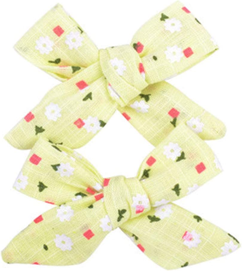 12PCS Hair Bow Clips for Toddlers Baby Girls,3.1 Inches Hair Barrettes Alligator Clips Accessory for Kids School Girl Fine Hair , 12PCS A Floral