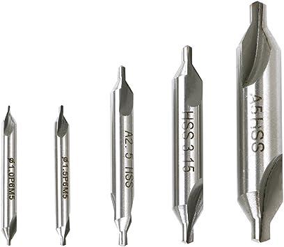 6 St/ücke 1 2,5 5mm 60 Grad Triton Edelstahl HSS Zentrum Bohrer Set Drehmaschine Kombiniert Zentrum Bohrer Senker f/ür Metall 3 1,5 2