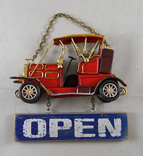 Antique Car Style Open Closed Shop Sign
