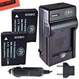 Pack of 2 DMW-BCG10 Batteries and Battery Charger for Panasonic Lumix DMC-ZS5 DMC-ZS7 DMC-ZS8 DMC-ZS9 DMC-ZS10 DMC-ZS15 DMC-ZS19 DMC-ZS20 DMC-ZS25 DMC-TZ6 DMC-TZ7 DMC-TZ8 DMC-TZ10 DMC-TZ18 DMC-TZ19 DMC-TZ20 DMC-ZR1 DMC-ZR3 Digital Camera + More!!