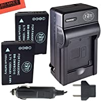 BM Premium 2-Pack of DMW-BCG10, DMW-BCG10E, DMW-BCG10PP Batteries and Battery Charger for Panasonic Lumix DMC-3D1, DMC-SZ8, DMC-TZ6, DMC-TZ7, DMC-TZ8, DMC-TZ10, DMC-TZ18, DMC-TZ19, DMC-TZ20, DMC-TZ25, DMC-TZ30, DMC-TZ35, DMC-ZR1, DMC-ZR3, DMC-ZS1, DMC-ZS3, DMC-ZS5, DMC-ZS6, DMC-ZS7, DMC-ZS8, DMC-ZS9, DMC-ZS10, DMC-ZS15, DMC-ZS19, DMC-ZS20, DMC-ZS25, DMC-ZX1, DMC-ZX3