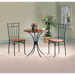 Tamiami 3-piece Bistro Dining Set Honey and Black