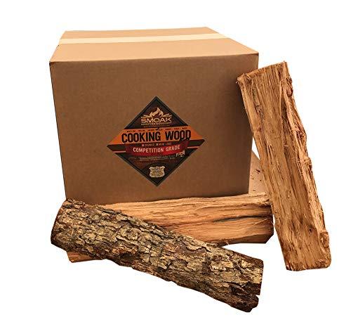 Smoak Firewood Cooking Wood Logs - USDA Certified Kiln Dried (Pecan, 16in Pieces (60-70lbs))