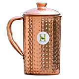 Pure Copper Hammered Water Jug | Copper Pitcher for Ayurveda Health Benefit by HealthGoodsIn