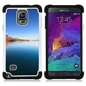 """Hypernova Híbrido Heavy Duty armadura cubierta silicona prueba golpes Funda caso resistente Para Samsung Galaxy Note 4 IV / SM-N910 [La belleza del paisaje""""]"""