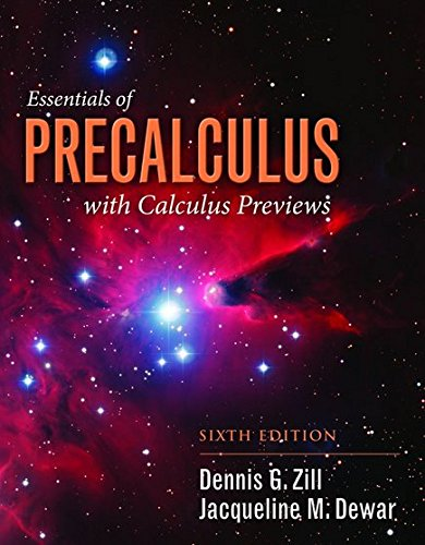 Essentials Of Precalculus With Calculus Previews (Jones & Bar