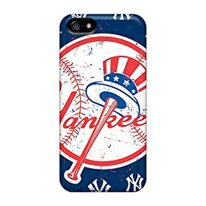 Iphone 5/5s Dxd16563KEpV Customized Nice New York Yankees Pattern Protector Hard Cell-phone Cases -JohnPrimeauMaurice
