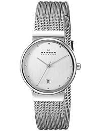 Skagen Women's 355SSS1 Steel Collection Patterned Mesh Stainless Steel Watch