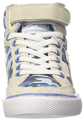 DrunknMunky Boston Camu, Zapatillas de Tenis Para Niños Blu (Grey/Blue)