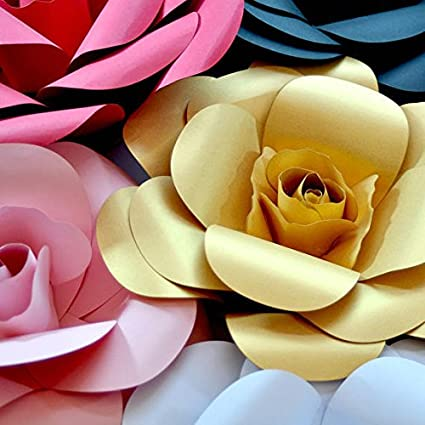 Paper Flower Templates | Amazon Com Paper Flower Template Kit Pattern Diy Make Your Own