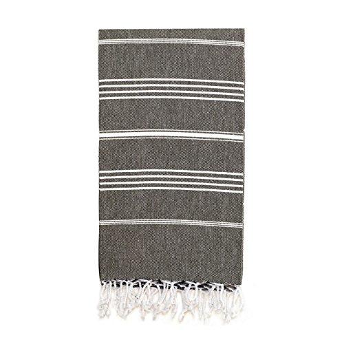 Bamboo Throw Woven (Linum Home Textiles Turkish Cotton Lucky Pestemal, Peshtemal, Fota Beach Bath Towel)