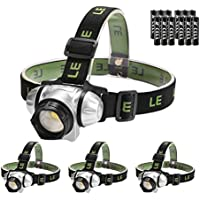 LE 4PCS LED Headlamp, 4 Modes Headlight Battery Powered...