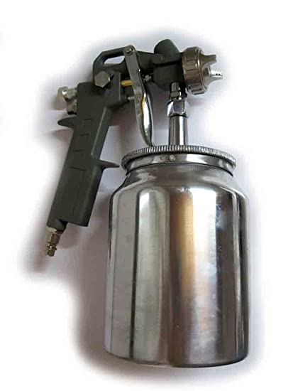 Pistola pintura con depósito inferior OreWork para compresor de aire - Aerógrafo – Ref.: