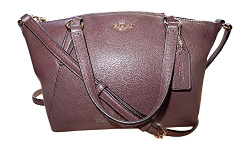 Coach Handbag Im Leather Oxblood Pebble Satchel Mini Crossbody Kelsey fWrz71fwq