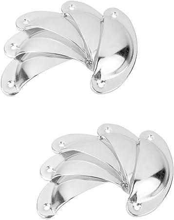 6pcs Poign/ée Bouton de Porte Vintage Bronze Coquille pour Tiroir Armoire 108x40mm