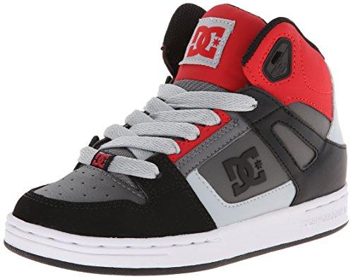 DC Jugend Rebound Skate Schuhe Schwarz / Grau / Rot