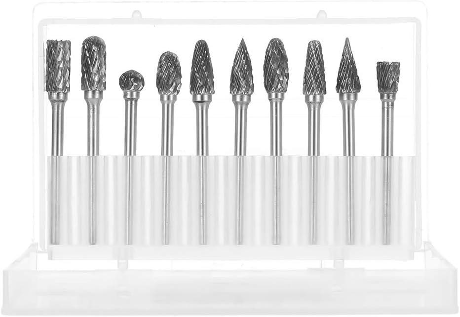 iufvbgxdh - Juego de 10 brocas para tallado profesional (6 mm, con vástago de 3 mm): Amazon.es: Hogar