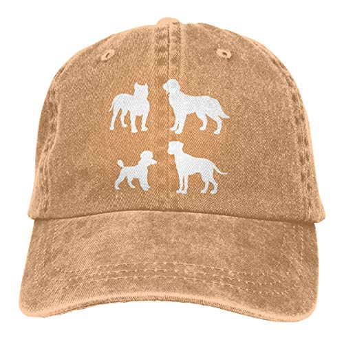 Women's Men's Adjustable Baseball Cap Dalmatian Poodle Irish Setter Pitbull Dog Snapback Hat