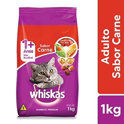Ração Para Gatos Whiskas Carne Adultos 1kg