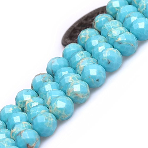 6mm Round Faceted Gemstone Blue Crazy Lace Agate Beads Strand 15 Inch -