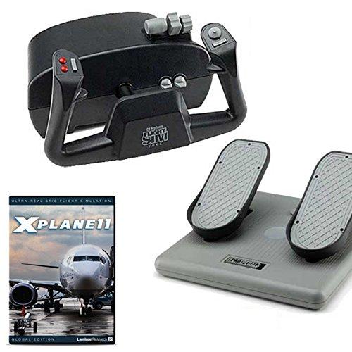 CH Products Basic Flight Sim w/X-Plane 11 DVD Bundle