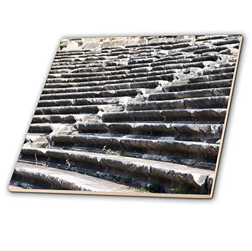 3dRose Danita Delimont - Turkey - Turkey, Anatolia, Aydin Province, ruins of Miletus. Theater seats. - 6 Inch Ceramic Tile (ct_312869_2)