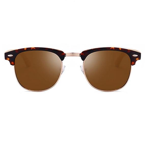 Gafas de sol polarizadas retro del medio marco de la media Gafas de conducción de la