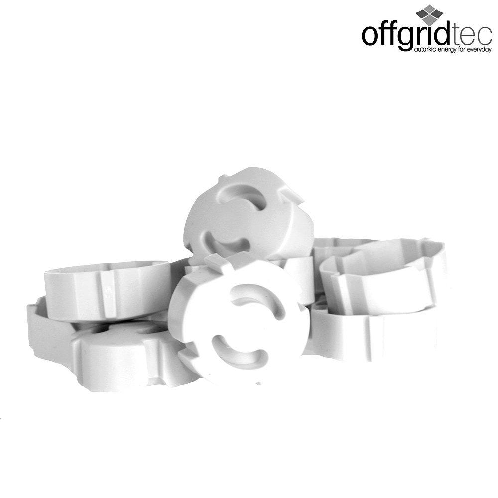 12 unidades color blanco Protector infantil enchufable para enchufes de Offgridtec 007310