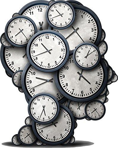 Divine Designs Cool Wall Clock Time Metaphor in Human Head Silhouette Vinyl Decal Sticker (12
