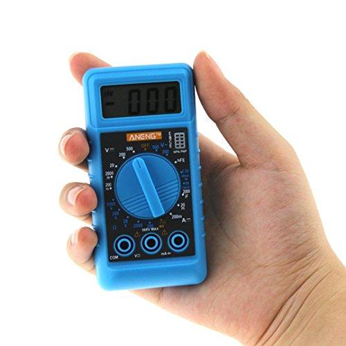 Dreamyth ANENG Mini Digital DMM LCD Multimeter Voltmeter Ohmmeter Amperemeter Hand-held Multimeter (Blue)