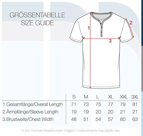 solid Para De shirt Dorian Hombre Grandad Básica Camiseta Off White 0104 Manga Cuello T Con Corta rRr80Hn