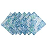 DII Cloth Napkins for  Everyday Place Settings, Family Gatherings, BBQ's, Holiday Parties, & Catering Events, Oversized & Stain Resistant for Indoor/Outdoor Use (20x20'' - Set of 6) Blue Paisley