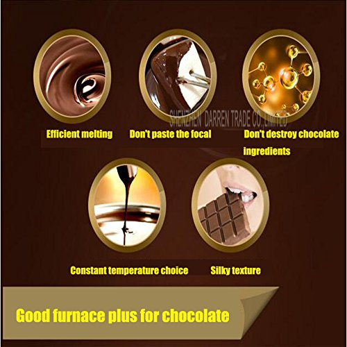 Commerical Three-cylinder Electric Chocolate Fountain Fondue Hot Chocolate Melt Pot Melter Machine (110V) by Hanchen Instrument® (Image #2)