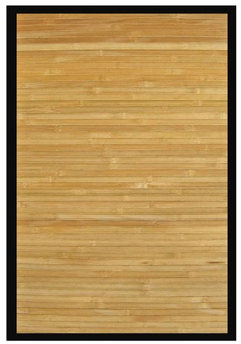 Anji Mountain Contemporary Natural Bamboo Rug 2' x 3' # AMB0036-0023 (Wide Slat Bamboo Rug)