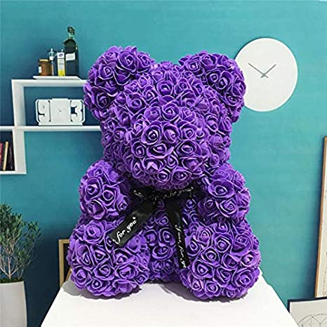 Mascot Rose Flower Soap Bear 25cm Plush Toy Scented Bath Soap Romantic Lovers Valentines Day Birthday Gift Wedding Present Bath & Shower