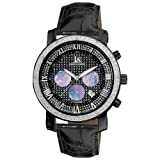 Joshua and Sons Men's JS-28-02 Diamond Quartz Chronograph Black Round Watch