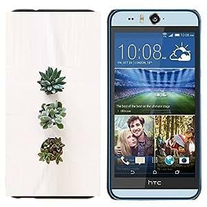 EJOOY---Cubierta de la caja de protección para la piel dura ** HTC Desire Eye M910x ** --Planta de la flor del arte Naturaleza