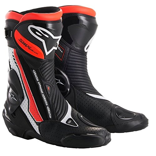 Alpinestars SMX Plus Vented Motorcycle Boots - Black/Red/White - 45
