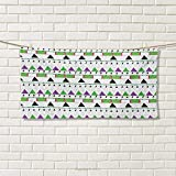 Chaneyhouse Oriental,Hand Towel,Tribal Composition with Triangles Stripes Composition Traditional Mexican Motifs,Quick-Dry Towels,Multicolor Size: W 20'' x L 20''