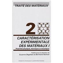 Caractérisation Expérimentale des Matériaux I