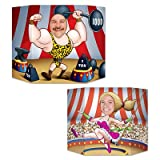 Beistle 57975 Circus Couple Photo Prop, 3-Feet 1-Inch by 25-Inch
